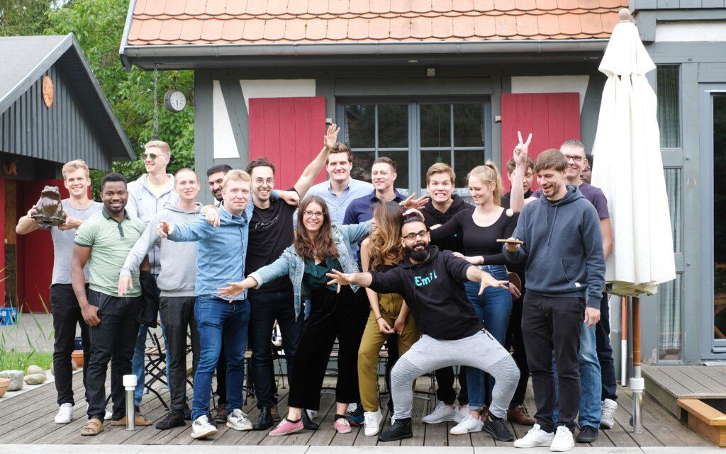 Teamfoto bei der Emil Group